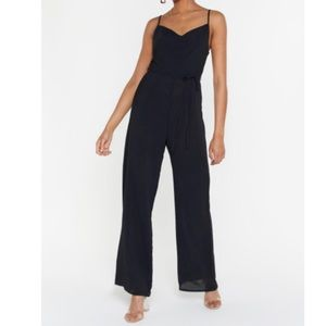 NWT Nasty Gal black jumpsuit size 10